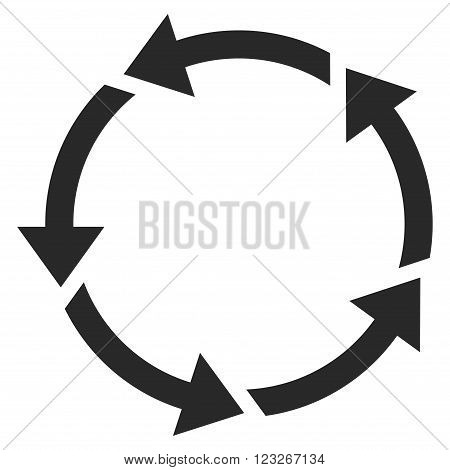 Rotation vector icon. Rotation icon symbol. Rotation icon image. Rotation icon picture. Rotation pictogram. Flat gray rotation icon. Isolated rotation icon graphic. Rotation icon illustration.