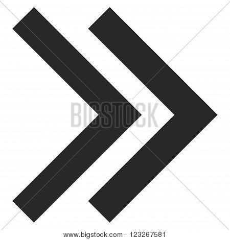 Shift Right vector icon. Shift Right icon symbol. Shift Right icon image. Shift Right icon picture. Shift Right pictogram. Flat gray shift right icon. Isolated shift right icon graphic.