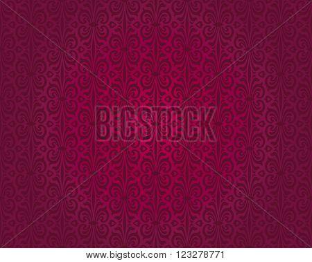 Red vintage pattern vector seamless background design