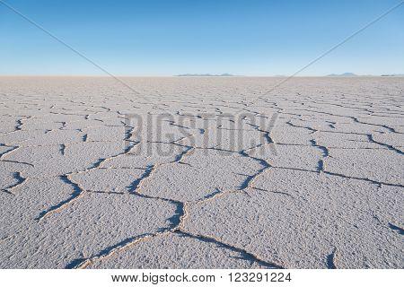Salar de Uyuni,  the world's largest salt flat area, Altiplano, Bolivia, South America