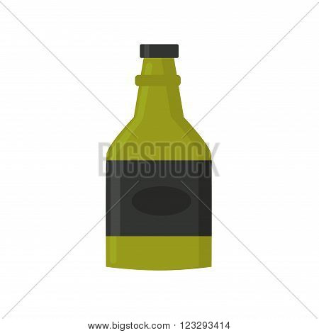 Whiskey bottle vintage scotch and western strong whiskey green bottle vector. Party amber drunk whiskey bottle. Retro whiskey bar drink bottle vector illustration icon. Tipple drink bottle