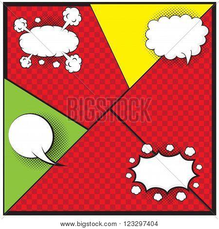 Comic speech bubble, comic background, design for comic background