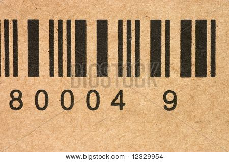 Bar Codes On A Box