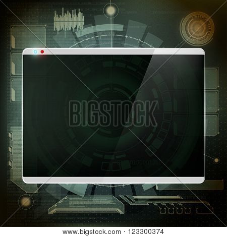 Futuristic design the screen. Technology interface. Stock vector illustration.