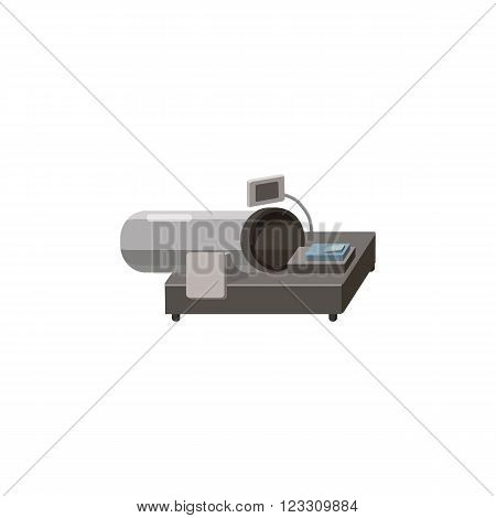 Magnetic resonance tompgraph MRI icon in cartoon style on a white background