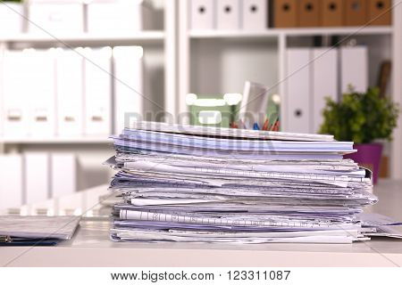 File Stack, file folder with white background.