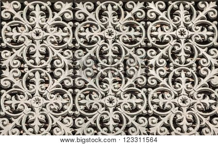 Cast iron Forged lattice with a beautiful ornament