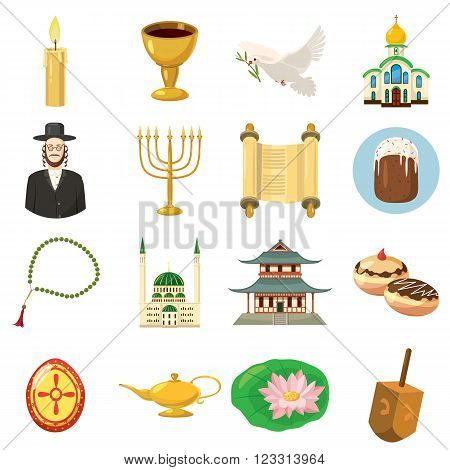 Religion icons set use for any design