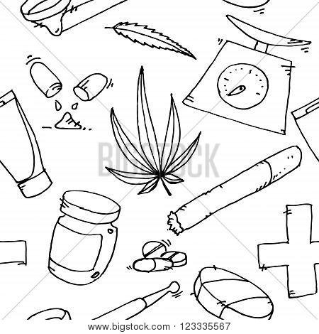 Medical marijuana icons. Medical marijuana pattern. Medical marijuana icons new.. Medical marijuana set. Medical marijuana set art