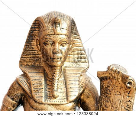 a old Egyptian pharaoh Statue. Close up