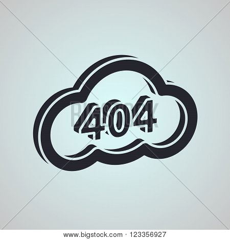 Concept Page 404. Design 404 Error. Illustration Error Page Not Found. Negative Space Style. Black A