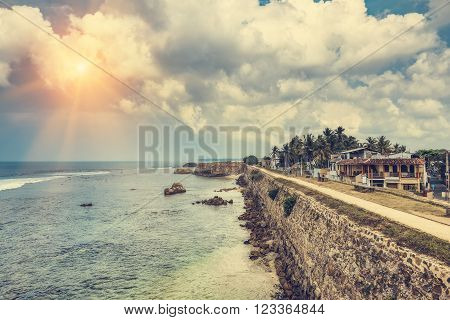 Galle fort in Sri Lanka is a prime Dutch colonial time city in Asia