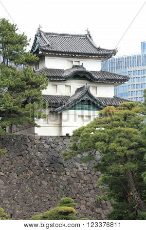 Fujimi keep of Edo castle in Tokyo, Japan