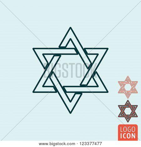 Star of David icon. Star of David symbol. Magen David icon isolated. Vector illustration