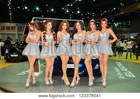 NONTHABURI - MARCH 26: Hyundai with Unidentified model  on display at The 37th Bangkok International Thailand Motor Show 2016 on March 26, 2016 Nonthaburi, Thailand.