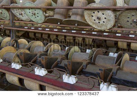 Wooden Spools And Bobbins