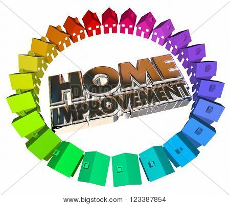 Home Improvement Project Job Task Houses 3d Words Contractor