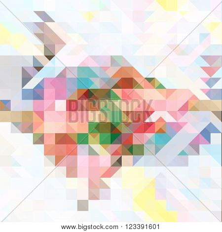Pastel colorful abstract polygonal vector background in light and pale palette