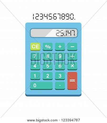 Calculator icon. Calculator flat illustration. Calculator isolated on white background. Simple calculator