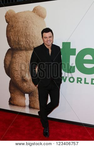 NEW YORK-JUN 24: Seth MacFarlane attends the 'Ted 2' world premiere at the Ziegfeld Theatre on June 24, 2015 in New York City.