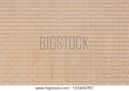 Tatami mat texture background on top view.