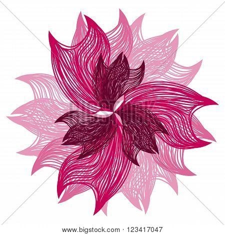 Bright Pink Vector Flower