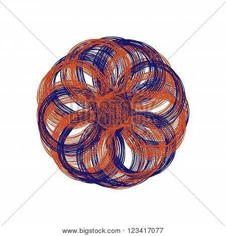Bright Round Vector Flower