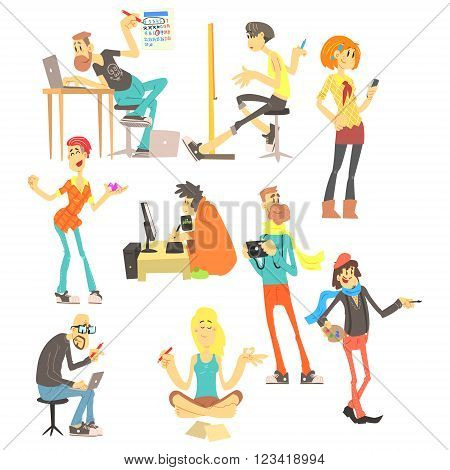 Creative People Vector Set A team of creative people, designer, Illustrator, artist
