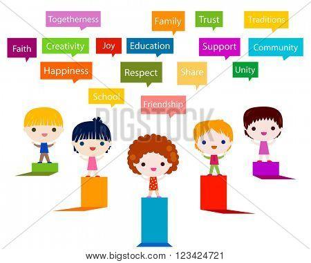 happy kids infographic values