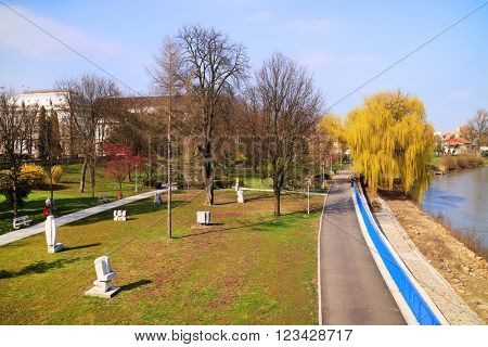 Park of Arad, Mures Valley, Romania