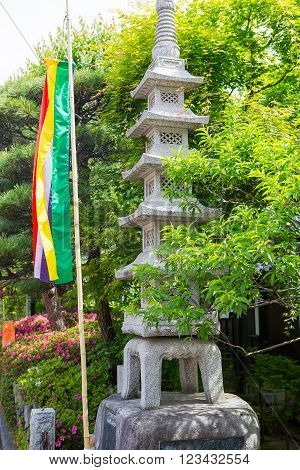 Holy lantern in Zenkoji Temple, Nagano, JAPAN. One of the most important temples in Japan which was built in the 7th century