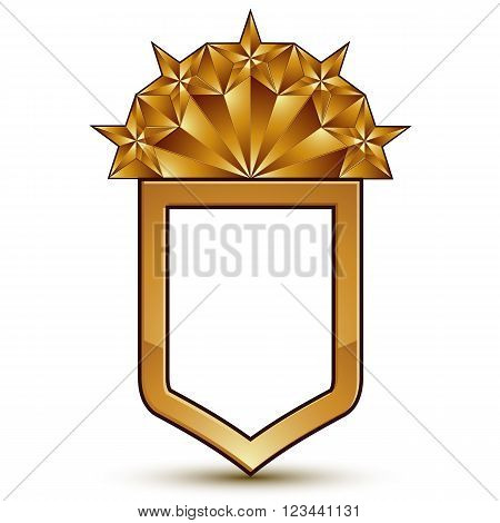 Branded Golden Geometric Symbol, Stylized Golden Polygonal Star, Best For Use In Web And Graphic Des