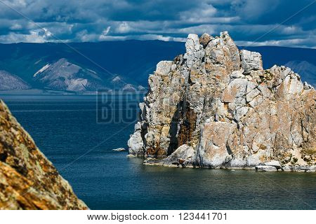 view of the mountain Shamanka Cape Burkhan, island Olkhon Russia