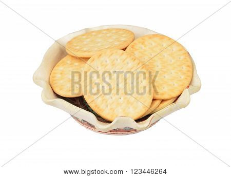 Hardtack Cookie In Clay Bowl