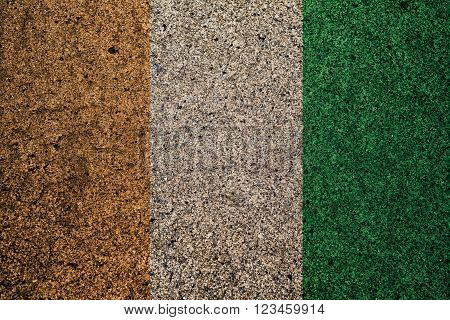 cote ivoire flag with a vintage effect in the background