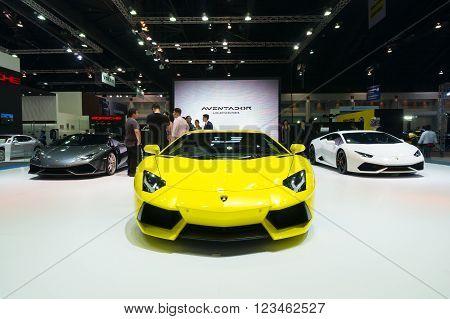 Nonthaburi - March 23: Lamborghini Aventador On Display At The 37Th Bangkok International Motor Show