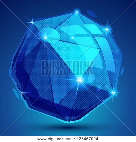 Plastic Pixilated Dimensional Complicated Object, Synthetic Dotted Geometric Element.