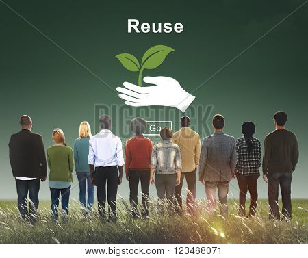 Recycle Reuse Reduce Ecosystem Environment Concept poster