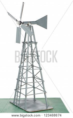 A model windmill is depicted against a white background.