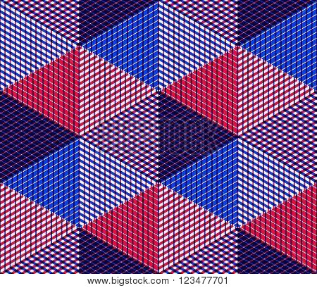 Endless colorful symmetric pattern graphic design. Geometric intertwine optical composition clear EPS10.