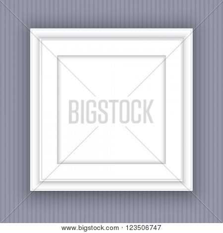 Blank white picture frame design