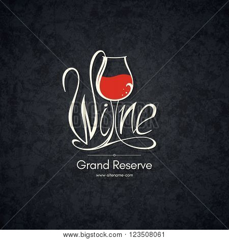 Logotype for wine shop, winery, wine list, restaurant