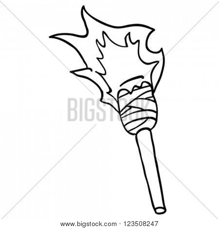 simple black and white torch