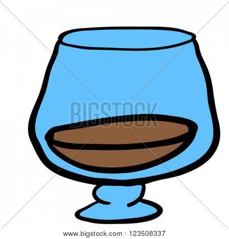 glass of cognac cartoon