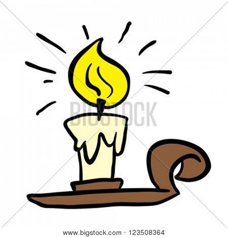 candle cartoon