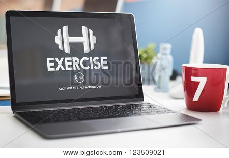 Gym Membership Exercise Weight Icon Concept