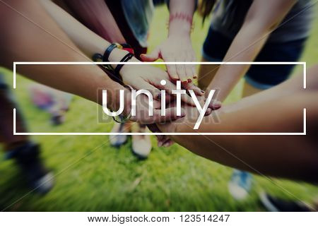 Unity Collaboration Partnership Teamwork Concept
