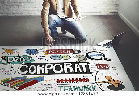 Corporate Business Startup Marketing Concept
