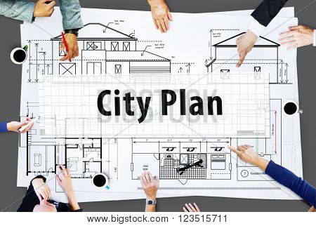 City Plan Architecture Engineering Planning Concept