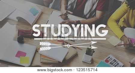 Studying Learning School Student Concept